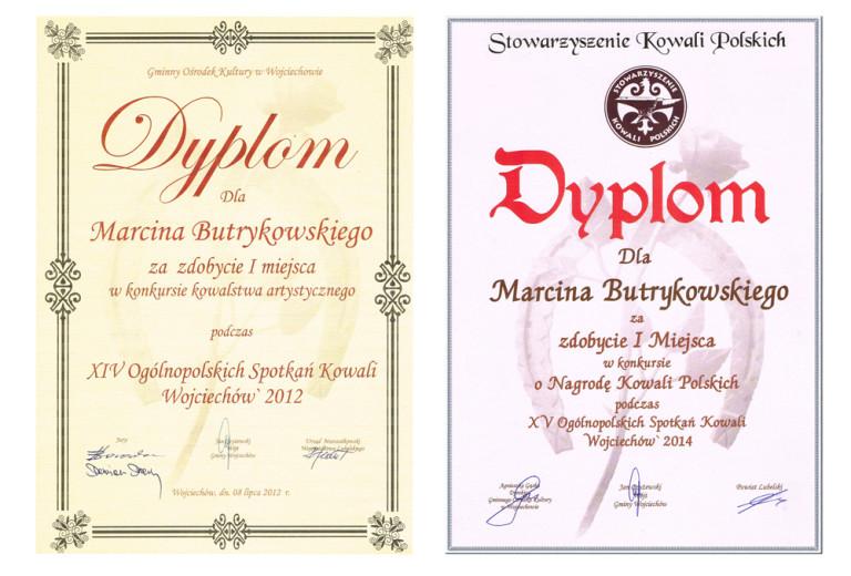 dyplomy z zdobycie pierwszego miejsca