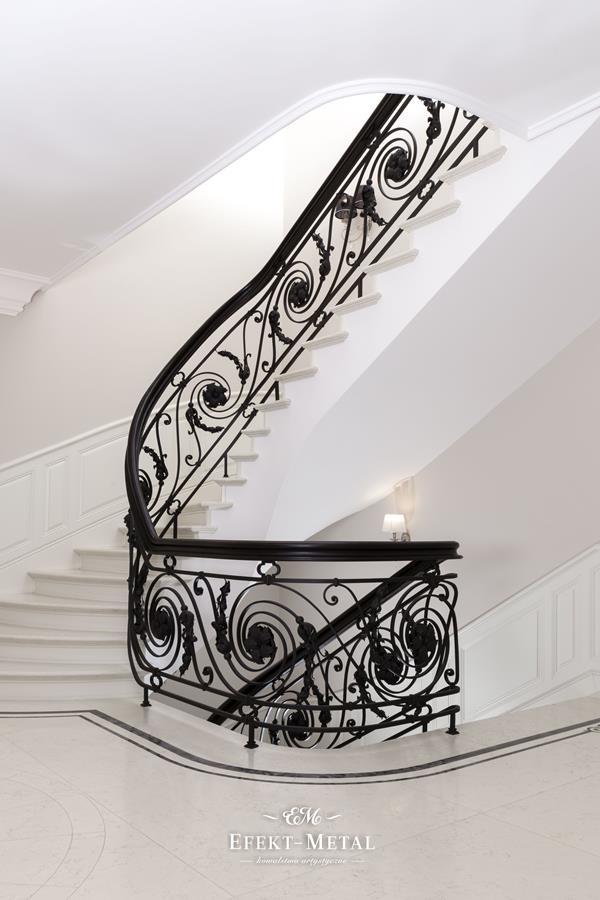 Balustrada kuta, wewnętrzna, na schody wewnętrzne