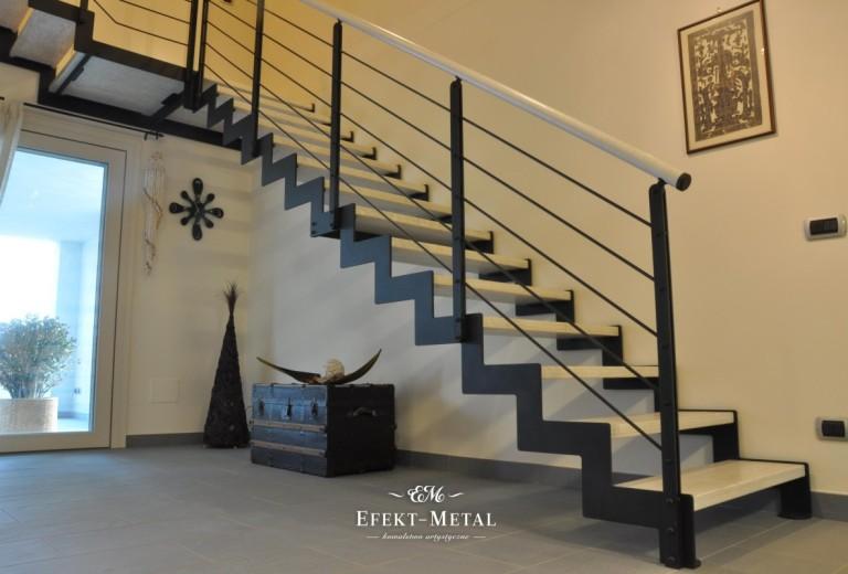 nowoczesne schody i balustrada kuta