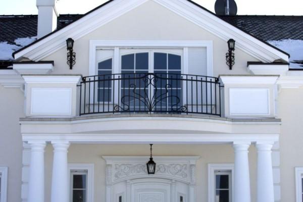 zewnętrzna kuta balustrada